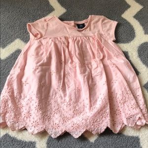 Pink eyelet dress and diaper cover